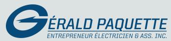 Gérald Paquette entrepreneur électricien